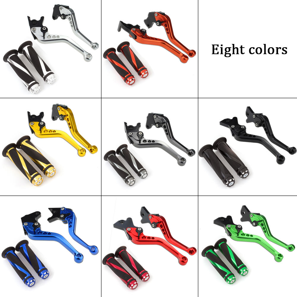 For Yamaha YZFR125 YZF-R125 YZF R125 <font><b>2008</b></font> - 2013 2012 CNC Short Adjustable Motorcycle Brake Clutch Levers & Handle Grips Set image