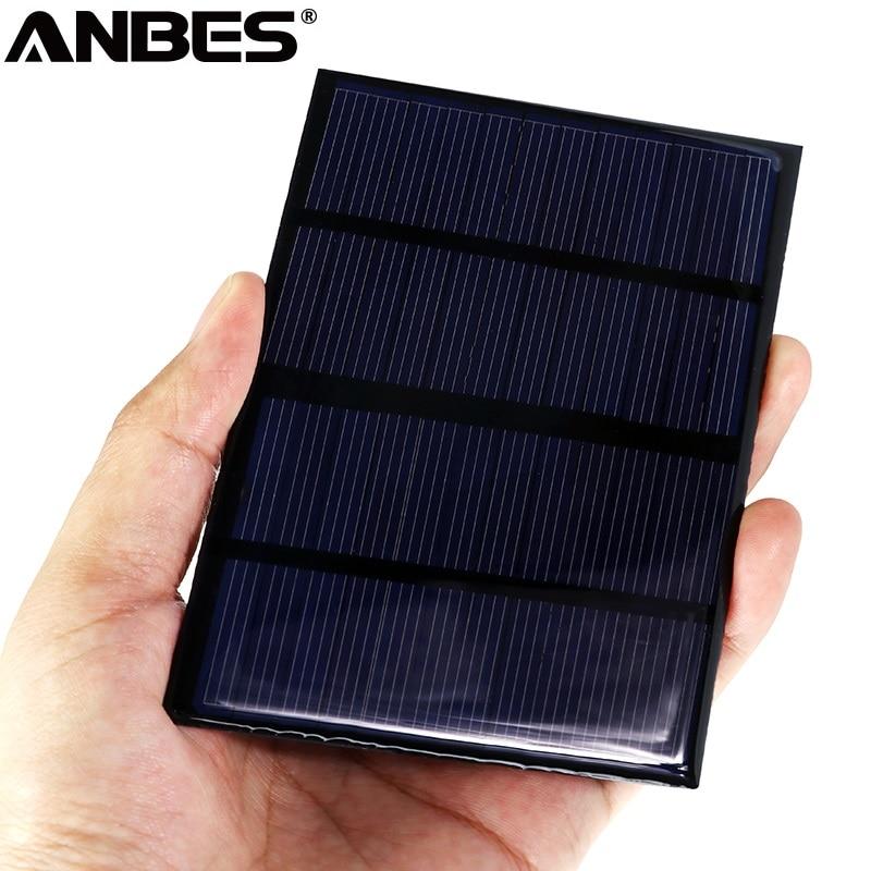ANBES Solar Panel 12V Portable Module DIY Small Solar Panel 1.5W Solar Cell 115x85mmSolar Battery