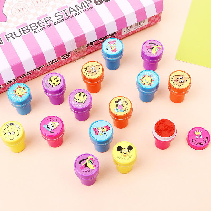 Number Children Toy Stamps Cartoon Animals Fruits Kids Seal For Scrapbooking Stamper DIY Cartoon Stamper Toys