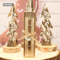 Never DIY Squirrel 0.5MM 1PC Stainless Steel Rod Rotating Metal Ballpoint Pen Stationery Ballpen Black Ink Office School Yiwi