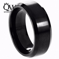Free Shipping 8mm Black Tungsten Carbide Ring For Men Tungsten Wedding Band Teps Brushed Matte Wedding