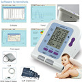 Digital Arm Infant Blood Pressure Monitor 08C + 6-11cm Cuff + SPO2 Oximeter Probe,Sphygmomanometer BP Monitor for Baby