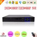 Caso Duas Portas Sata XMeye Hi3535 Chip de Blue-Ray 1080 Completo HD 24CH Vigilância Gravador de Vídeo de 24 Canais NVR Onvif Livre grátis