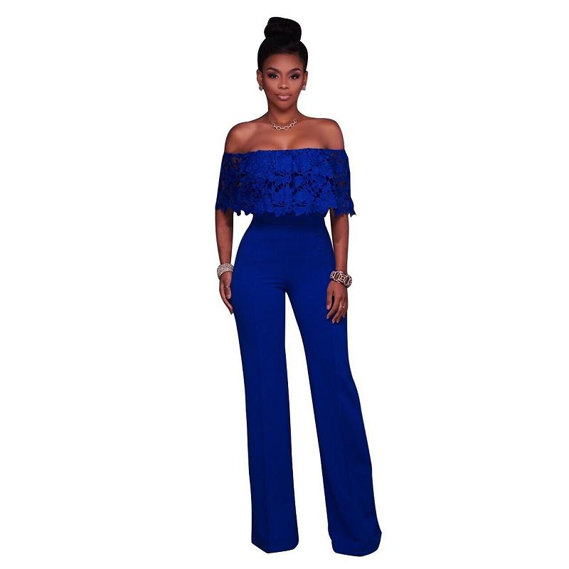 Adogirl Off Shoulder Women Fashion Loose High Waisted Jumpsuits And Rompers Casual Full Length Long Overalls Ladies Playsuits