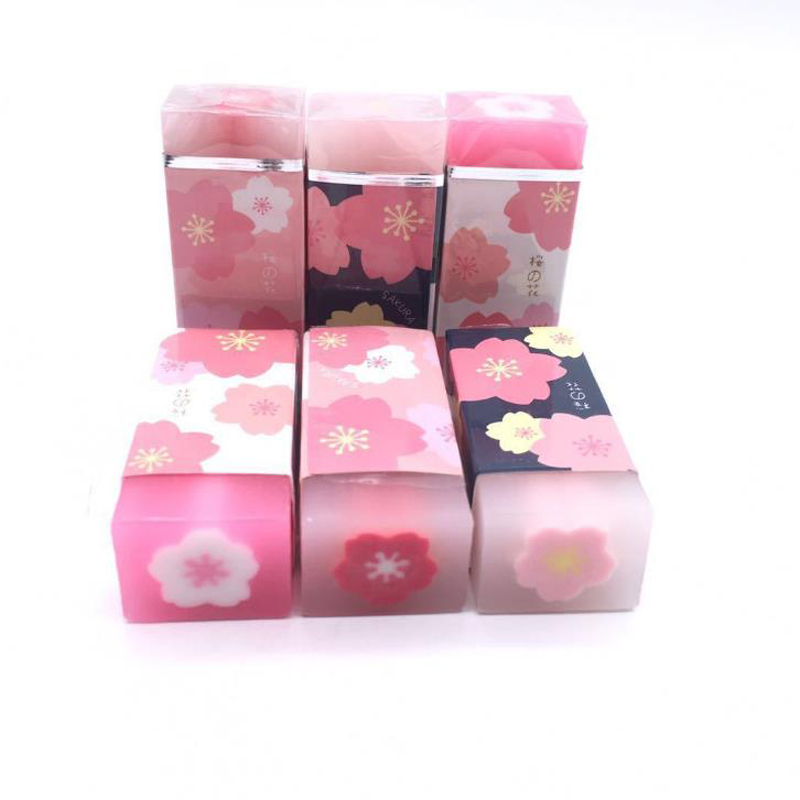 3 Pcs/set Lovely Cherry Blossoms Sakura Petal Rubber Pencil Erasers Sketch Painting Eraser School Office Stationery Gifts