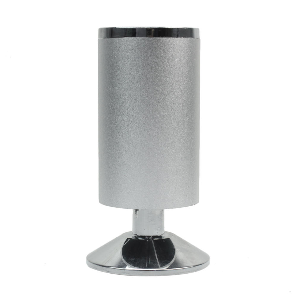 4pcs 120mm Metal Silver Tone Table Legs Feet Supporter Furniture Cabinet Cupboard Round Stand bqlzr 4pcs 120x85mm round silver black adjustable stainless steel plastic furniture legs sofa bed cupboard cabinet table feet