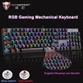 Motospeed CK104 игровая механическая клавиатура RGB/светодиодный с подсветкой  с защитой от привидения  светящийся синий/красный переключатель  про...
