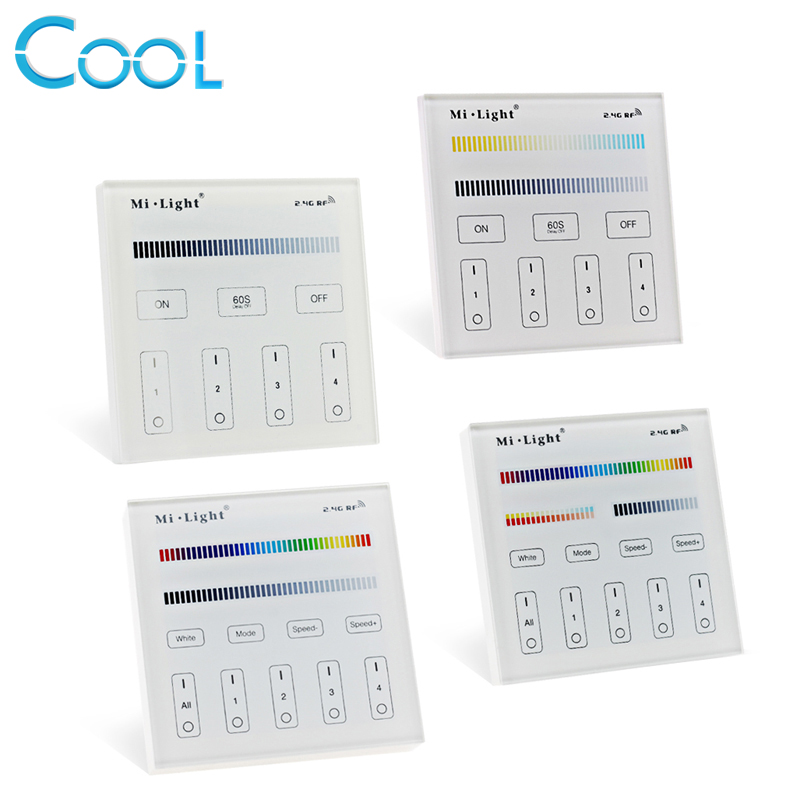 Popular t4 strip light buy cheap t4 strip light lots from china t4 mi light smart touch panel controller t1 t2 t3 t4 b1 b2 b3 b4 single color aloadofball Gallery