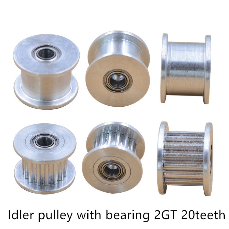 2gt-20-teeth-synchronous-wheel-idler-pulley-bore-3mm-4mm-5mm-8mm-with-bearing-for-gt2-timing-belt-width-6mm-10mm-20teeth-20t