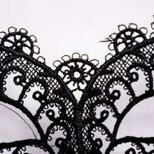 1pc Black Hollow Sexy Women Lace Flower Masks