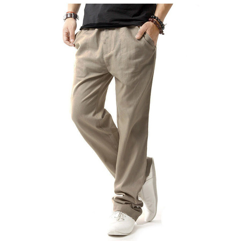 Popular Khaki Linen Pants Men-Buy Cheap Khaki Linen Pants Men lots ...