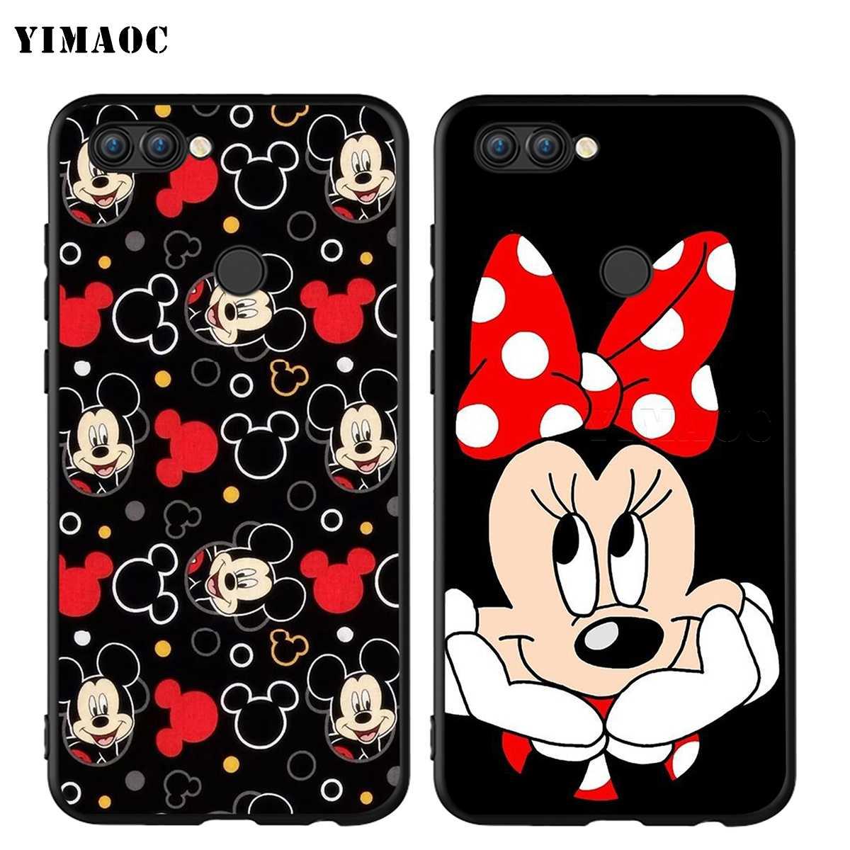 YIMAOC Minnie Mouse filles mignon étui pour Huawei Honor Mate P smart Y7 Y9 8C 30 20 10 8x Nova 3i 3 Lite Pro Prime 2018 2019