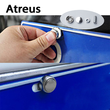 Atreus 16X Stainless steel Car License Plate Bolts Frame Chrome Screws for Ford Toyota Renault Jeep Opel Honda Nissan Mitsubishi spotter blacharski