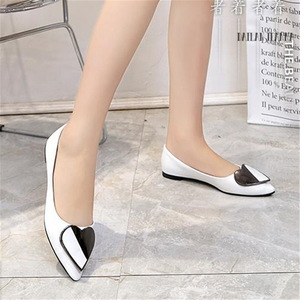 Image 3 - Sharp head flat bean shallow mouth single elegant Ms. shoes spring and autumn 2018 new type of wild womens shoes European style
