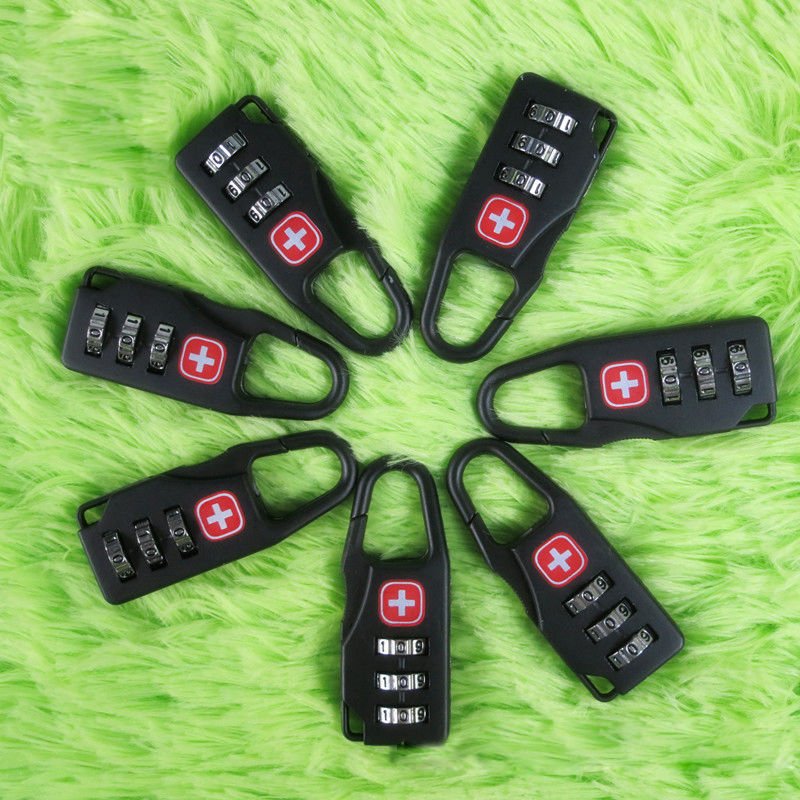 ISKYBOB 1PC Alloy Swiss Style Safe Cross Symbol Combination Code Number Lock Padlock for Luggage Travel Accessories