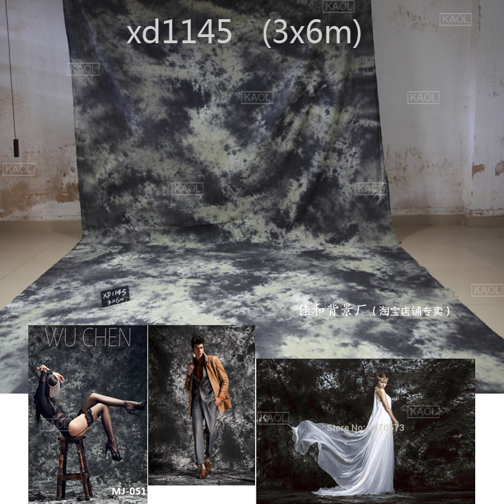 3X6mTye-Die Crushed Muslin photographic background,100% hand made cotton wedding photography photo studio backgrounds XD1145
