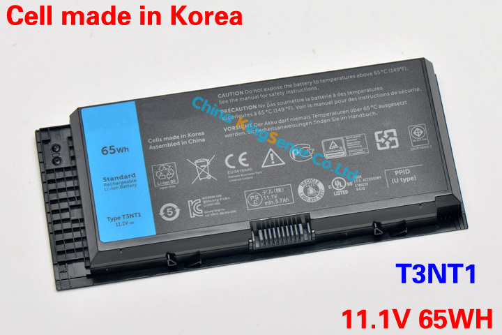 65WH Korea Cell Original New Laptop Battery for DELL Precision M6600 M4600 M4800 M6700 M6800 T3NT1 N71FM PG6RC R7PND OTN1K5 62wh korea cell original new laptop