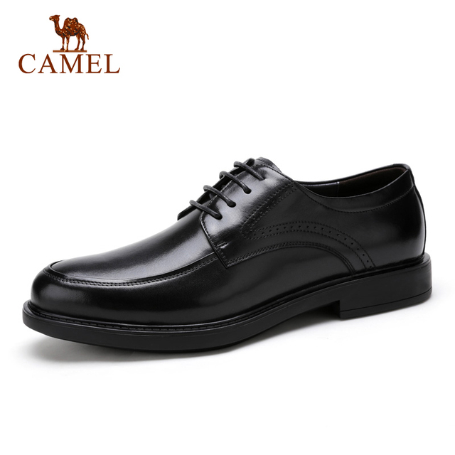 Camel Men's Genuine Leather Classic Modern Lace Derby Dress Shoes A712102250