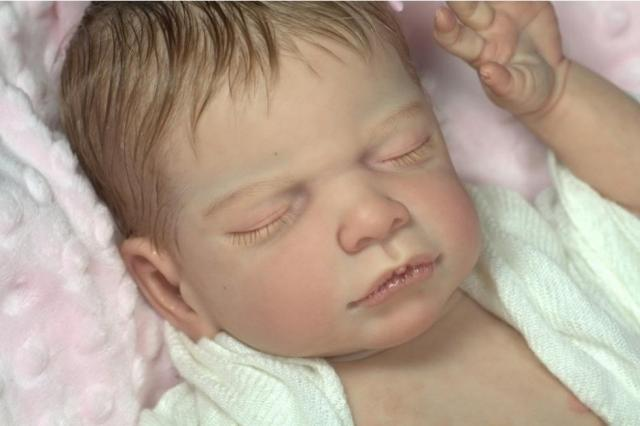 Limited Edition Reborn Doll DIY Unpainted Kit Silicone Mold Super Soft and Realistic Reborn Baby Doll