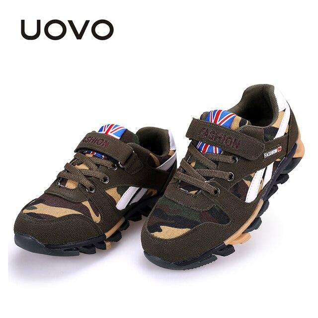 US $16.88 50% OFF|UOVO Camouflage Muster Kinder Schuhe Frühling Herbst Jungen Schuhe Casual Mode Sport Schuhe für Kleine & Große Jungen in UOVO