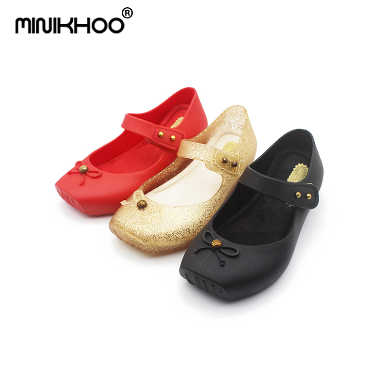 Mini Melissa 2018 New Brazilian Jelly Princess Dancing Shoes Cute Girl Princess Sandals Girls Jelly Sandals Mini Melissa 4color