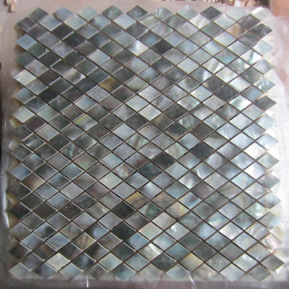 Paua tiles for bathroom - Aliexpress Com Buy Black Lip Shell Mosaic Tile On Mesh With Ceramic Tile Base Backsplash Bathroom Tv Backgroud Wall From Reliable Tv Wall Suppliers On