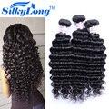 7А Класс Virgin Необработанные Перуанский Девственные Волосы Глубокая Волна 5 Пучки Сделок Дешевые SilkyLong Перуанский Глубокая Волна Наращивание Волос