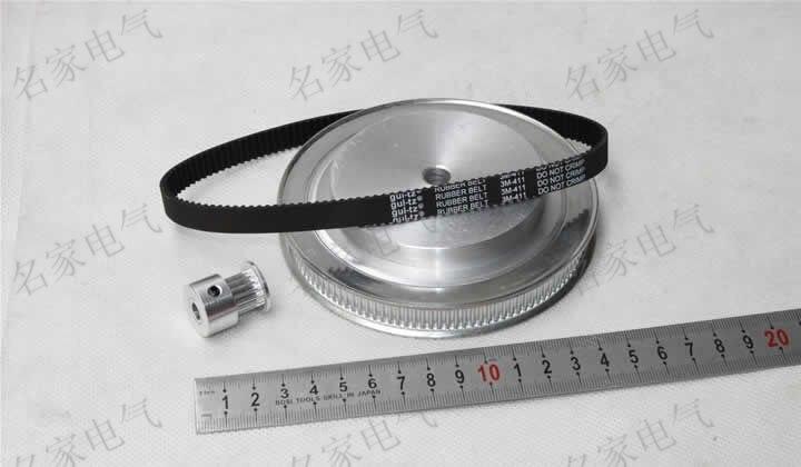 Timing belt pulleys timing belts timing belt deceleration suite 3M (8:1) CNC Engraving machine parts