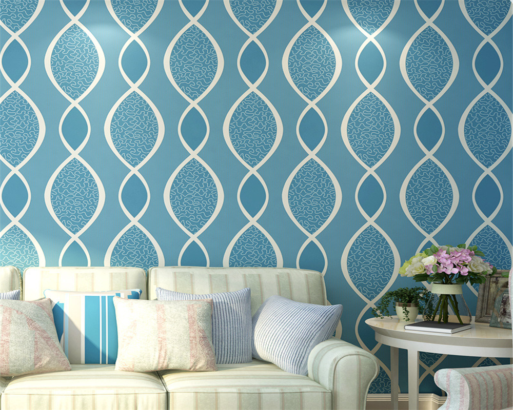beibehang Modern fashion personality geometric environmental nonwovens bedroom living room TV wallpaper papel de parede tapety beibehang nonwovens healthy fashion