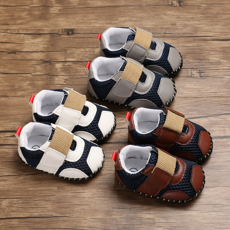 0-1 Years Old Male Baby Casual Sports Soft Bottom Non-slip Baby Toddler Shoes