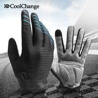 CoolChange Winter Full Finger Cycling Gloves Mountain Bike Gloves Mtb Bicycle Hiking Long Finger Gloves