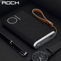 ROCK 10000mAh External Battery Power Bank Portable Charger With Type C Input Port And Output Port