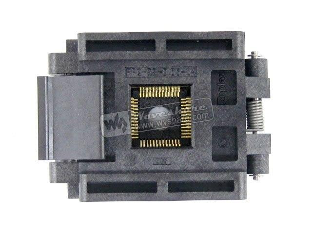все цены на QFP52 TQFP52 FQFP52 PQFP52 FPQ-52-0.65-04 Enplas IC Test Burn-in Socket Adapter Programmer 0.65mm Pitch онлайн