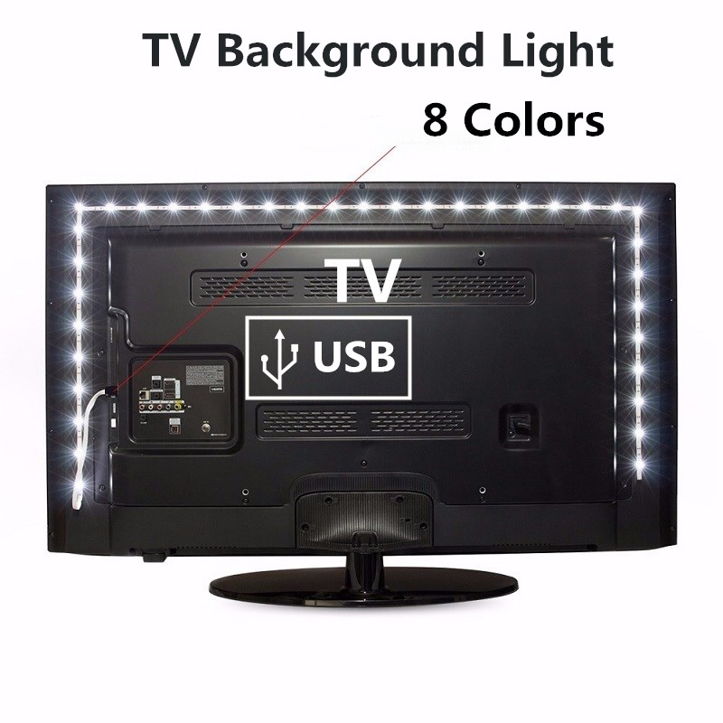 TV Background Light 1M 2M 3M 4M 5M Waterproof 5V USB Led Strip Lighting Decoration USB Input Reading Flexible Russia Low Price