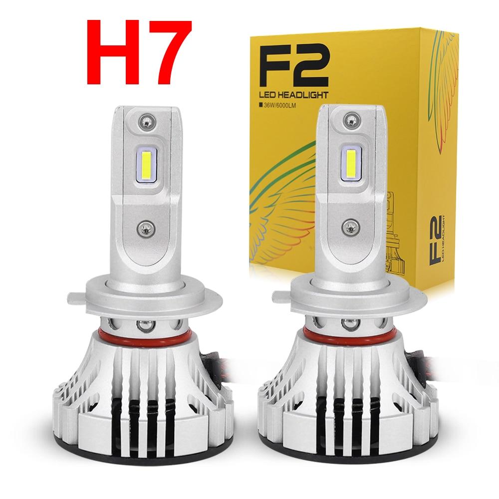 H7 High Power COB 52W LED Headlight Conversion Replacement Kit White LED Bulbs