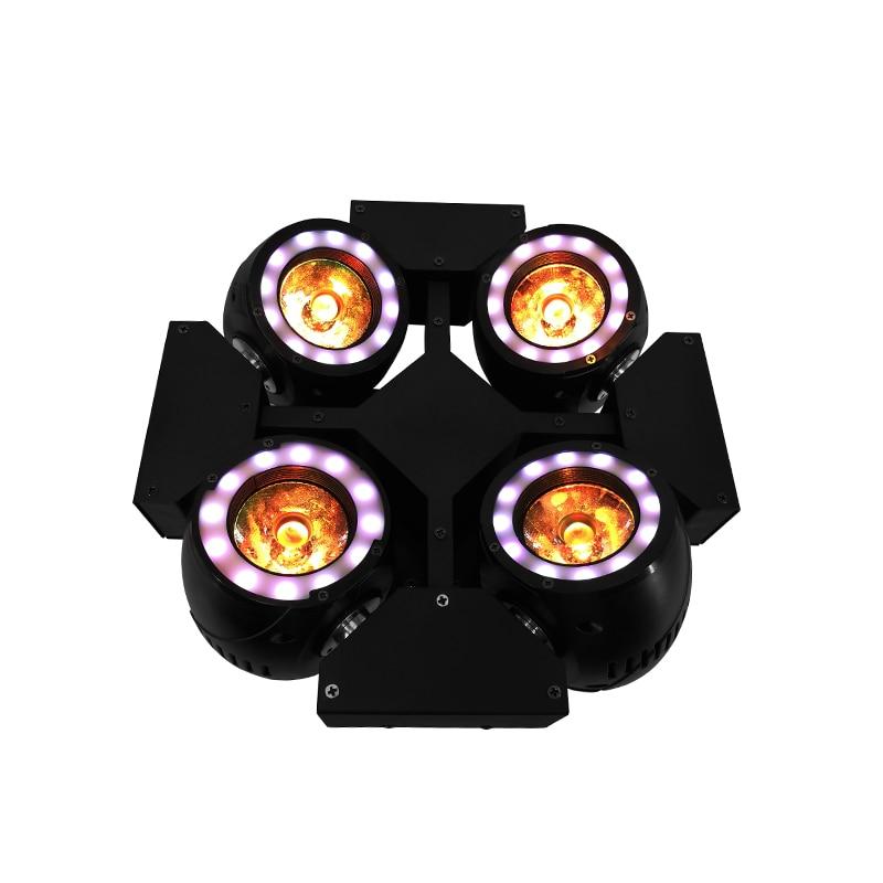 Мини 4 светодио дный головы светодиодный луч Вт 4x40 Вт освещение RGBW 4в1 Quad Луч движущаяся головка освещение для Дискотека ночной клуб Professional ...