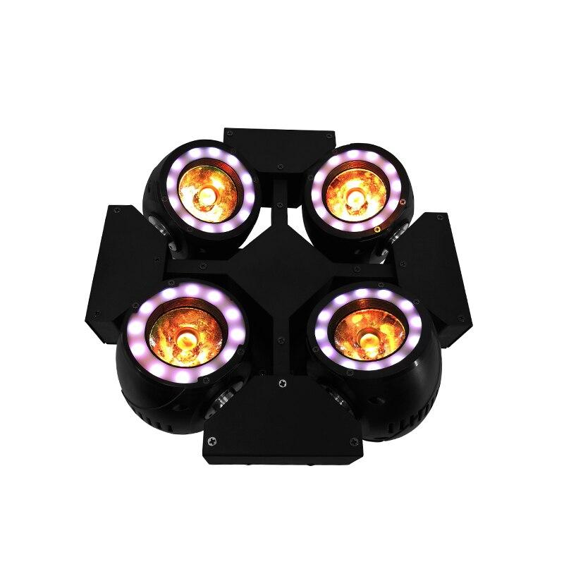 Mini 4 Têtes LED Faisceau 4x40 w Éclairage RGBW 4in1 Quad Faisceau Tête Mobile Éclairage Disco Discothèque scène professionnelle et Dj SHEHDS
