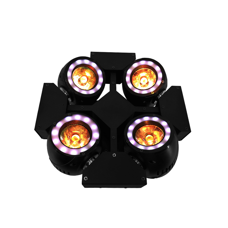 Mini 4 Testa LED Fascio 4x40 W Illuminazione RGBW 4in1 Quad Fascio Testa mobile Luce Da Discoteca Discoteca Fase Professionale & Dj SHEHDS