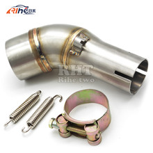 Dirt Bike Racing Motorcycle Exhaust Pipe Accessories Middle Muffler Exhaust Pipe For YAMAHA YZF R300 R30 R3 R25 YZF-R3 2015 2016