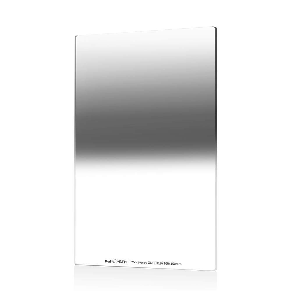 K&F Concept 100X150mm Neutral Density Filter 0.9 Graduated Filter Multi Coated Compatible with Cokin Z Holder