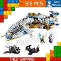 515 шт. Бела 10223 Ниндзя Вертолет Игрушка самолета Собраны Строительные Блоки Игрушки Совместимы С Lego
