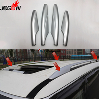 Silver ABS Roof Rack Bar Rail End Protection Replacement Cover Shell 4PCS For Nissan Patrol Y62 2010 2013 2014 2015 2016 2017