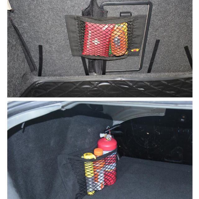 BROSHOO-filet de cargaison de voiture   Accessoires de style de voiture, coffre de voiture, filet de cargaison, autocollant magique, bagage pour toute voiture 40*25*2cm