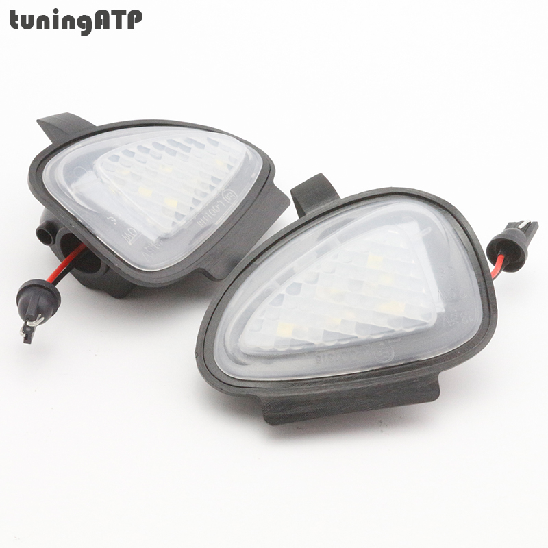 2x LED Under Side Mirror Puddle Lights for Volkswagen VW Golf Mk6 Golf 6 GTI Golf VI Cabrio Touran 2011 Facelift 2pcs white under led side mirror puddle light lamp for vw golf gti mk6 6 mkvi 2010 2014