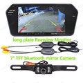 Hot sale bluetooth mirror mp5 Monitor +long plate night vsion Rearview Camera +wireless transmitter receiver kit