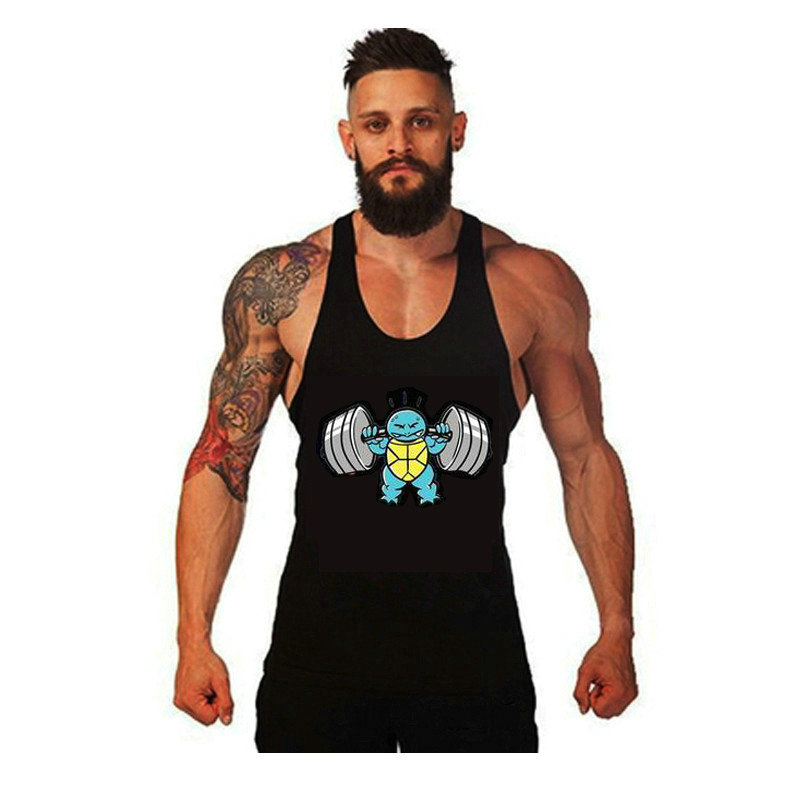 muslce vest Merk tanktops bodybuilding workout heren katoen singlets - Herenkleding - Foto 2