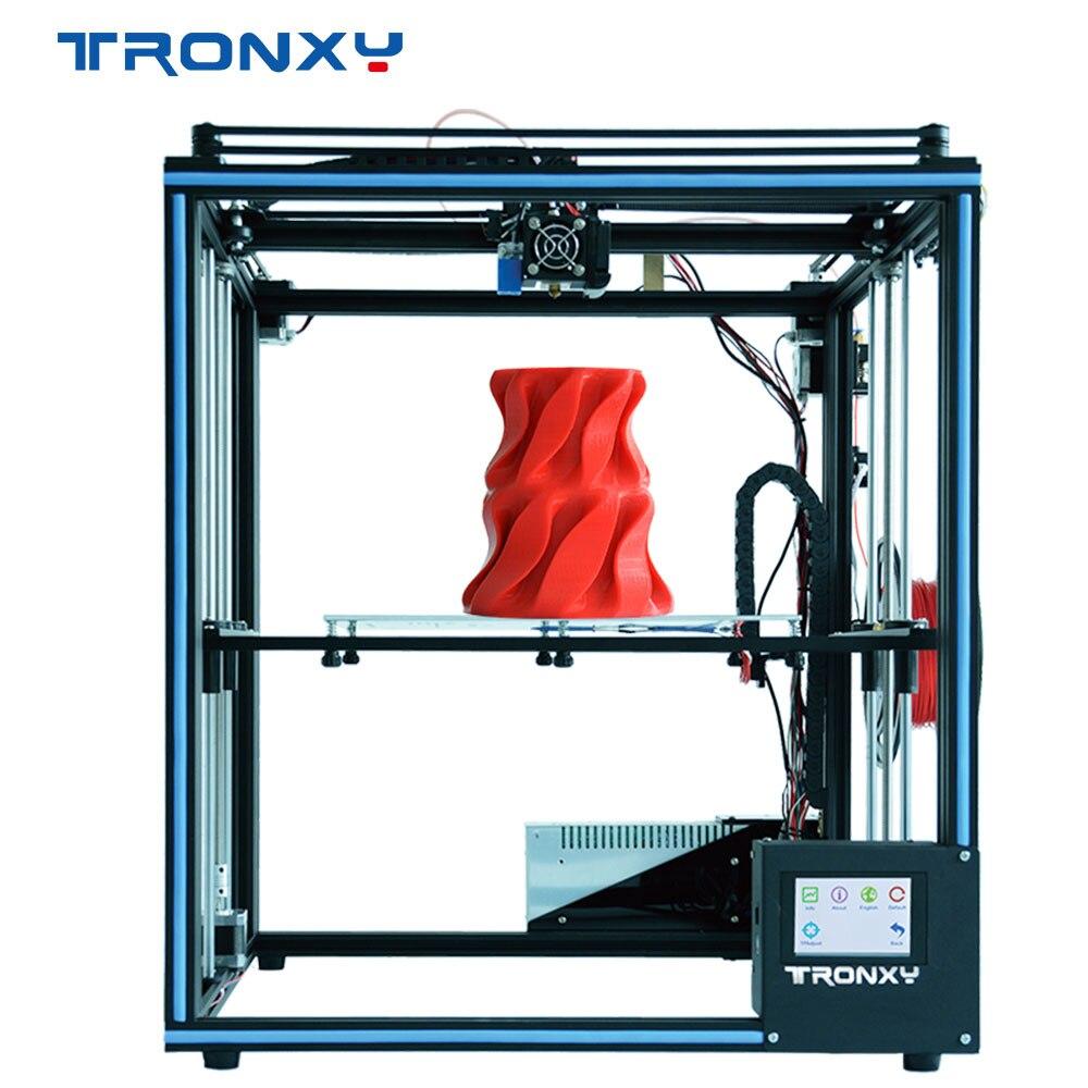 2019 Atualizado Impressora 3D Tronxy X5SA Filamento Sensor Grande Plus Size 330*330mm foco Full Metal TFT Touch tela 3d de Impressora