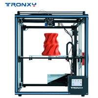2019 Yükseltilmiş 3D Yazıcı Tronxy X5SA Filament Sensörü Büyük Artı Boyutu 330*330mm hotbed Tam Metal tft dokunmatik ekran 3d yazıcı