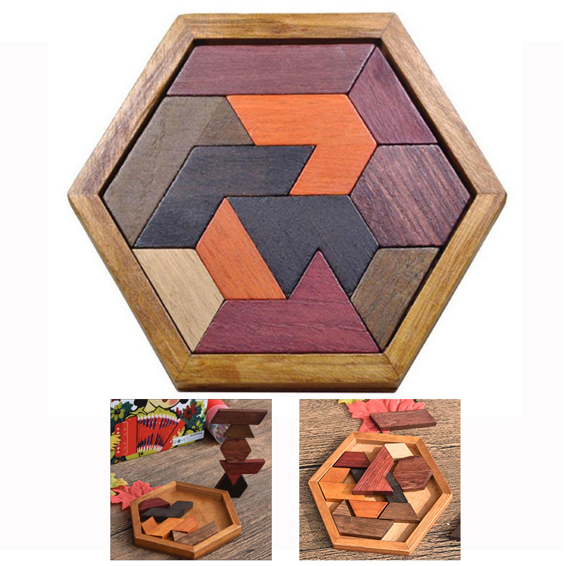 Jigsaw Board Geometric Shape Wooden Puzzles ToysBrain Teaser Child Educational Toy Non Toxic Wood Children Kids Gift Present