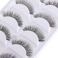 5 Pairs/lot Natural Sparse Cross Eye Lashes Extension Makeup Long False Eyelashes Free Shipping High Quality